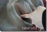 ちょっと卑猥な足のアップ:通天閣ビリケン像