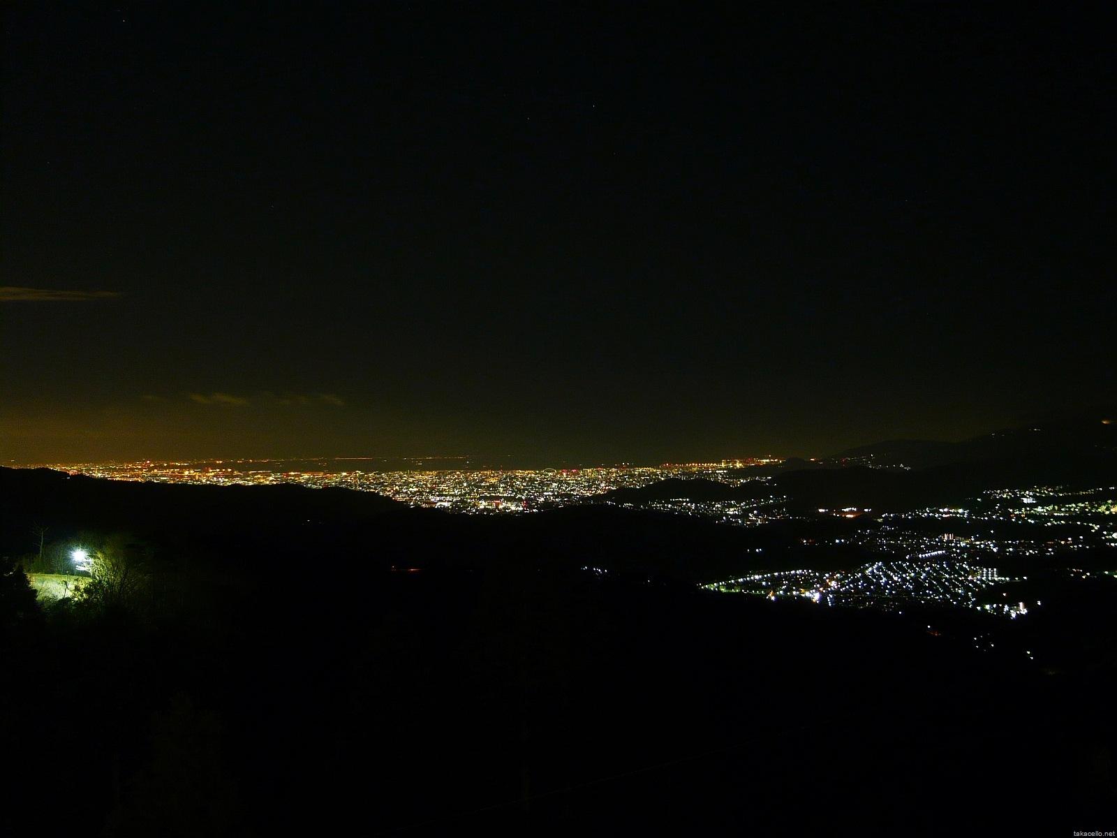 注意!サイズ大きいです!妙見山からの夜景