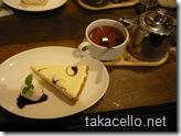 レアチーズケーキと紅茶のセット