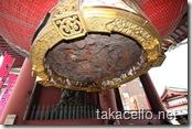 浅草:浅草寺の雷門にある巨大提灯の模様