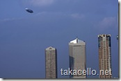 大阪上空の飛行船