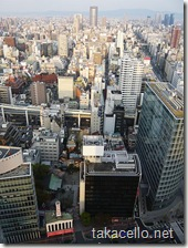 大阪駅前第三ビルからの眺め:お初天神からOAP