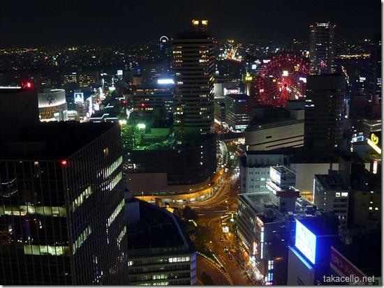 大阪駅前第三ビルから夜景