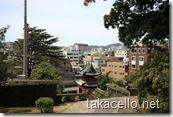 崇福寺から長崎市街を望む