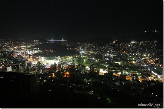 長崎の夜景を一望