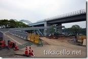 工事中の西海橋