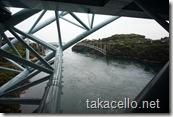 新西海橋の歩道からの眺め