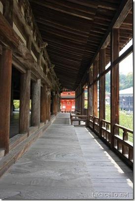 千畳閣の長い回廊