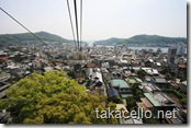 千光寺山ロープウェイからの眺め