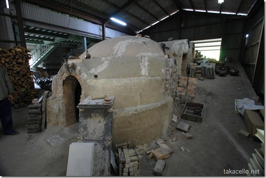 備前の窯元の大釜