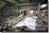 備前の窯元の小さい方の釜