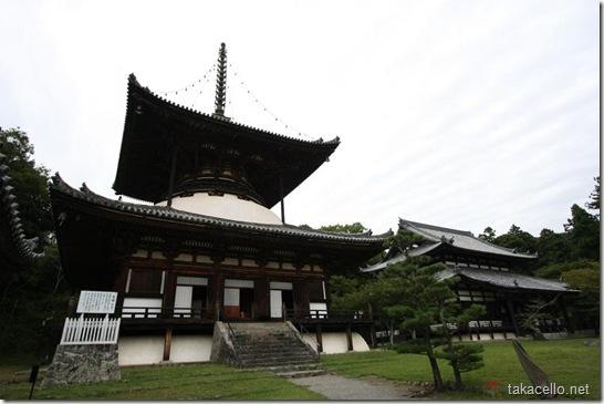 根来寺の大塔と伝法堂