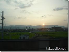 大山崎の夕日