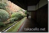 龍安寺の裏の回廊
