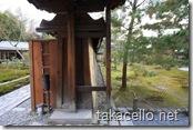 高台寺・方丈庭園の壁の傾き