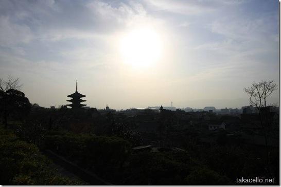 高台寺から京都市街を望む