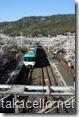 山中渓で桜と電車