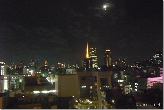 ホテルからの東京の夜景
