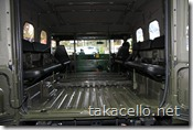 自衛隊の車の内装