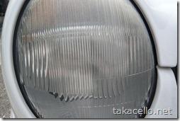 使用前:おベンツのライトカバー磨き