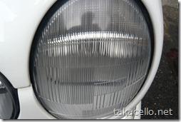 使用後:おベンツのライトカバー磨き