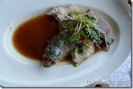 何か吠えてる見たいな…四川風魚料理