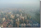 上海環球金融中心 展望台からの眺め