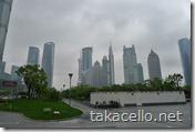 曇り空の浦東新区
