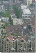 ロンジモント上海から見えるバラックのような建物