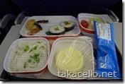 上海航空のまずい機内食
