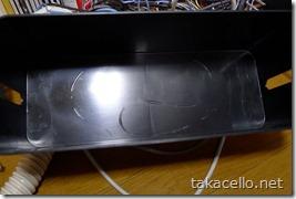 電源ケーブルで溶けたプラスチックBOX