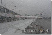 雨の浦東国際空港