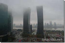 雨の上海浦東新区