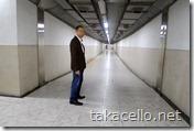 上海国際貿易センターから地下道