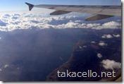 関空から上海、機内からの眺め