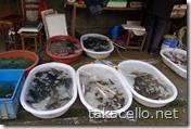 上海市内の青空市場