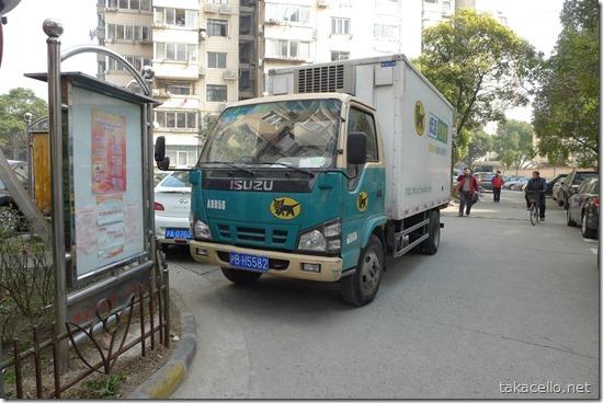 上海でクロネコヤマトのトラック