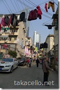 上海の一般的で下町的な住宅地